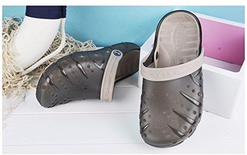 Autunno Il pattino dei nuovi uomini calza i pattini casuali Scarpa respirabile della spiaggia Grande testa Scarpa antisdrucciolevole Due scarpe da sandalo, grigio, UK = 7, EU = 40 2/3
