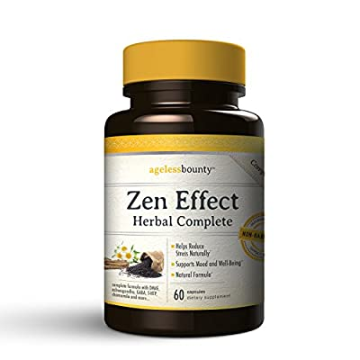 Stress and Anxiety Relief - Zen Effect Herbal Complete | Advanced Herbal Formula Stress Reliever, Helps deal with the Source of Stress while tackling the Symptoms of Anxiety