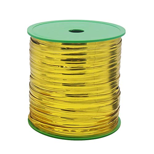 HRX Package 400 Yard Gold Metallic Twist Ties Spool, 1 Roll Shiny Golden Decorative Twist Ties for Wedding Party Candy Bakers Cello Bags