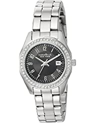 Caravelle New York Womens 43M113 Swarovski Crystal Stainless Steel Watch