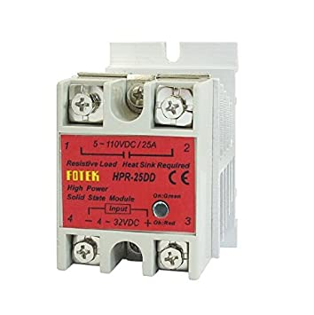 baomain dc dc single phase solid state relay hpr 25dd 25 a 4