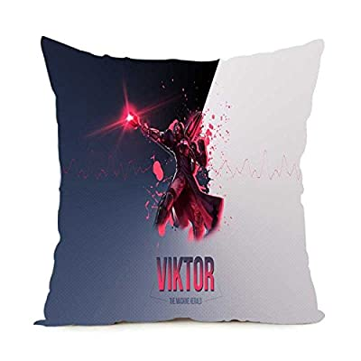 Unique Style Custom Viktor Invisible Zippered Throw Pillowcase Cover Best Gamer Gift 18x18 Inch