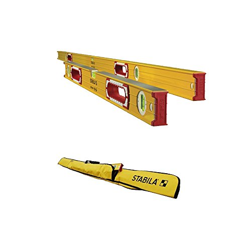 Stabila 37532 Heavy Duty 78-Inch/32-Inch Type 196 Jamber Construction Level Set & Level Carrying Case