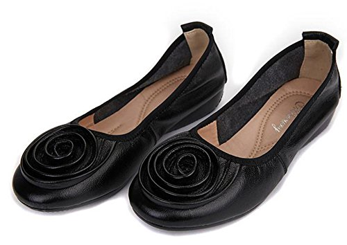 black Shoes YTTY Flat Shoes 42 black Flat YTTY 42 fF6wyqY5