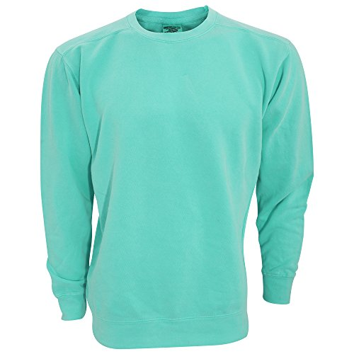 Comfort Colors Adults Unisex Crew Neck Sweatshirt (2XL) (Seafoam)