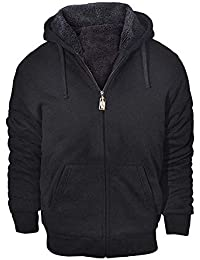 Men's Winter Heavyweight Fleece Hoodie Jackets Sherpa Lined with Full Zip