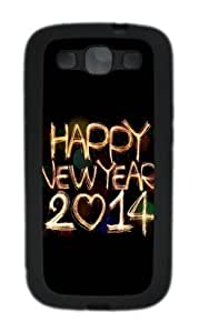 2015 Happy New Year Light Painting Bokeh Custom For Iphone 4/4S Case Cover - Hard - Black