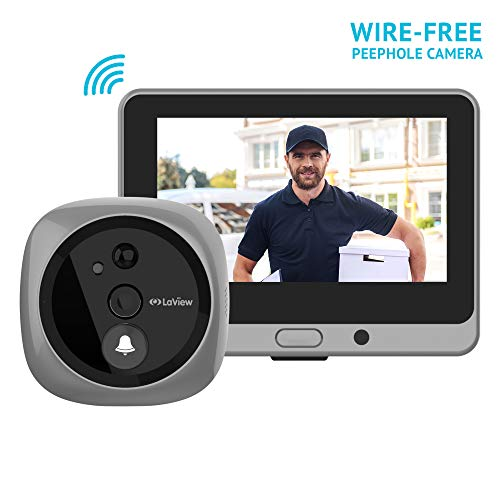 LaView Wireless Video Doorbell, Wi-Fi Door Bell Camera, Peephole Camera with LED Touch Screen,...