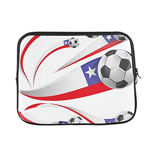 Design Custom Chile Flag Soccer Ball Isolated On Sleeve Soft Laptop Case Bag Pouch Skin for MacBook Air 11