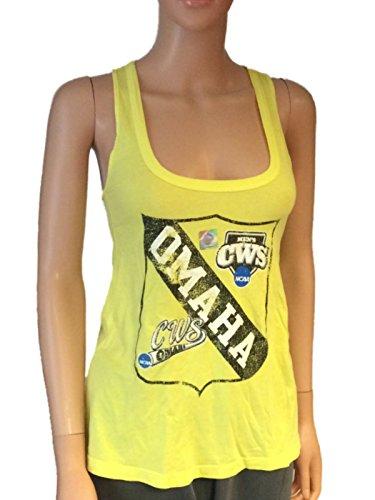 (Retro NCAA 2013 College World Series Omaha Women's Tank Top Neon Yellow (S))