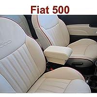 Filocar Design reposabrazos Fiat 500 de Piel Crema
