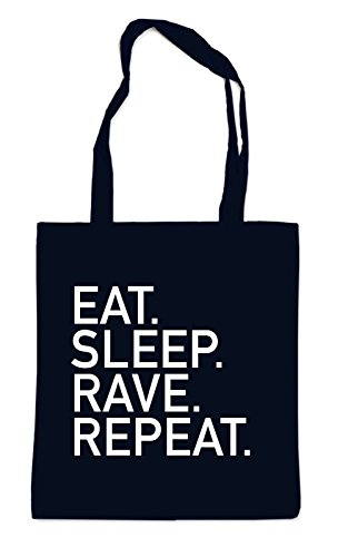 Eat Sleep Rave Repeat Bag Black