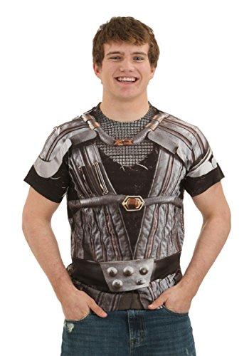 Star Trek Klingon Uniform (Front Back Print) Mens Sublimation Shirt White XL -