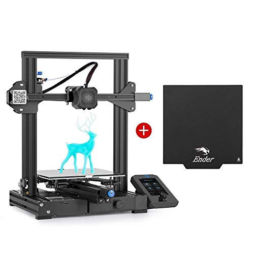 Creality Ender 3 V2 3D Printer and Creality Removable Magnetic 3D Printer Build Surface