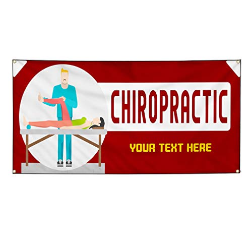 Custom Industrial Vinyl Banner Chiropractic Treatment Style A Personalized Text Here 24x48Inches from Fastasticdeals