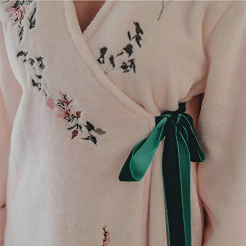 Tamaño Pink Estilo Largo 65kg color Japonés Étnico Franela 0 De Huifa Femenino A Bata Baño Pink Dulce Pijama T4xzRwq6