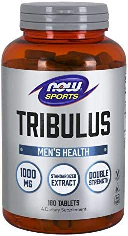 NOW Foods Tribulus 1000mg 45 180 Tablets, 2 Pack