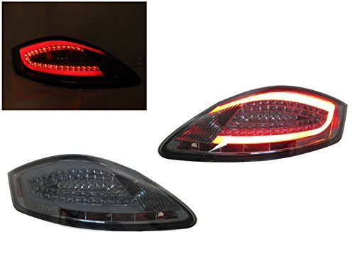 Revi MotorWerks 2005-2008 Porsche Boxster / Cayman 987 981 Style All Smoke Light Bar LED Tail Light Set