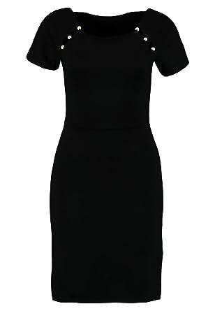 370d404f2bd702 Anna Field Etuikleid für Damen in Schwarz mit Perlen am Carree Ausschnitt - Kleines  Schwarzes Kleid elegant - Cocktailkleid kurz aus softem Jersey: ...