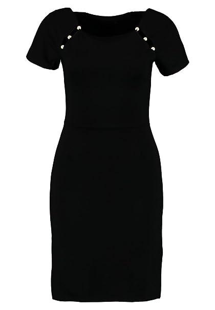 online store 55c9c 3e70a Anna Field Abito da sera da donna in nero con perle su collo Carree - Abito  da Cocktail corto nero - Vestito da sera elegante in morbido jersey