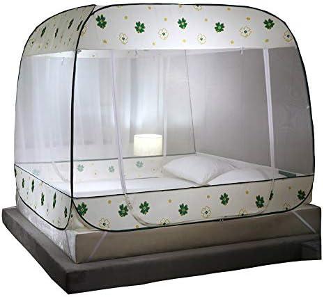 ベッドキャンプ旅行ホームアウトドア用蚊帳ベッドキャノピーポップアップ、折り畳み式、ダブルドア、ボトムで簡単にセットアップ、アンチモスキートバイツ,180*200cm