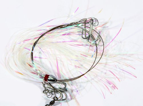 Boone #4 Treble Hooks Ribbon Rig, Pearl