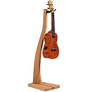So There Wooden Ukulele Stand - Best Handcrafted Solid Cherry Wood Floor Stands for Ukulels & Mandolins, Made in USA from So There