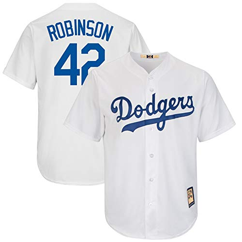 (VF LSG Mens #42 Jackie Robinson Los Angeles Dodgers Big & Tall Cooperstown Cool Base Player Jersey - White XL)