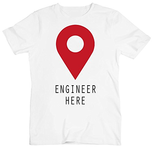 Engineer Here Location Pin Men's T-Shirt
