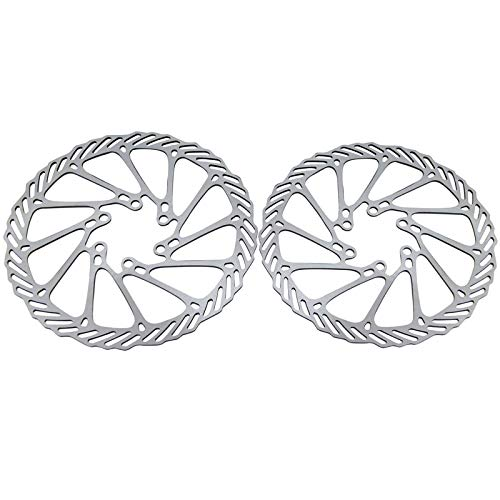 MOJITO LIVING 2Pcs Stainless Steel Bike Bicycle Cycling Clean Sweep Disc Brake Rotors 160mm G3 Bicycle Brakes for For MTB Disk Brake Use EA14 ()