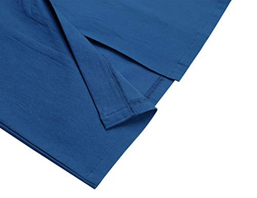 Style Sleeveless Navy MUXXN Slim Blue Women's 1950s Dress Pencil Business Retro wCAIt