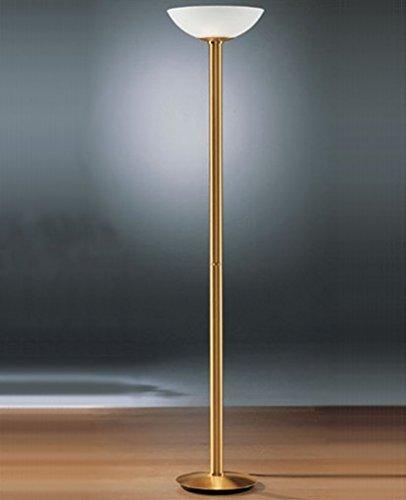 Holtkotter Satin Nickel Floor Lamp - Torchiere 2573/3 - 220 - 240V (for use in Australia, Europe, Hong Kong etc.), satin nickel