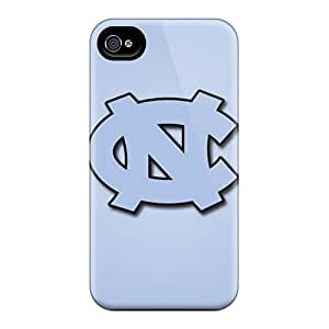 Scratch Resistant Hard Cell-phone Cases For Iphone 4/4s With Allow Personal Design Attractive North Carolina Tar Heels Skin CristinaKlengenberg