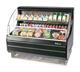 open display case refrigerators - Turbo Air TOM-50LB Black Open Display Case Cooler Low Profile