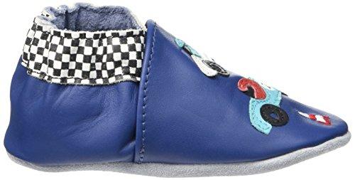 Robeez Speed - Patucos Bebé-Niñas Azul - Bleu (Bleu Klein)