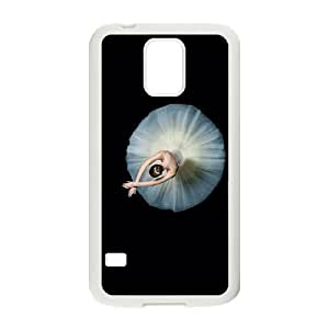 For Samsung Galaxy S5 Ballet Dancing Art Pattern Protective Back Case-Style-12