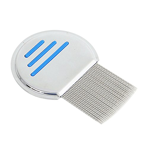 Pet Cat Puppy Dog Lice Comb Nit Remover Professional Stainless Steel Fine Teeth Louse Comb Pet Flea Comb Pet Cat Dog Grooming Brush Tools for Head Fur Lice