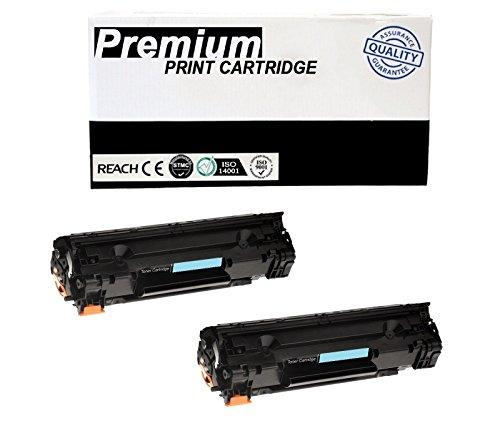 JSL 2PK CB435A Black Toner Cartridges For HP 35A Laser Jet P1004 P1005 P1006 P1009