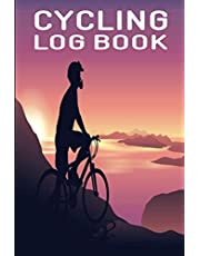 Cycling Log Book: Mountain Bike Logbook, Bicycle log Journal, Cyclist Training Diary, Red Cover