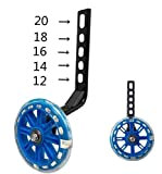 YJIA a Pair of Bicycle Mute Training Wheels for
