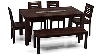 Urban Ladder Brighton Large Capra 6 Seater Dining Table Set With