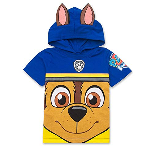Nickelodeon PAW Patrol Hooded Shirt: Chase, Marshall, Rocky, Rubble, Zuma - Boys (Navy Chase, 4T)]()