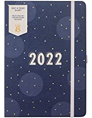 Busy B Dagboek A Pagina Dagboek januari t/m december 2022 - A5 Navy Spot Planner met gelinieerde pagina's, notities en jaarplanner