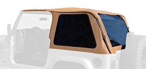 Wrangler Jeep Top 01 (RAMPAGE PRODUCTS 109517 Frameless Trail Top for 1997-2006 Jeep Wrangler TJ, Spice w/Tinted Windows)