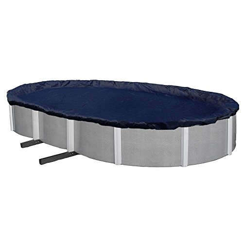 - Winter Block WC1524OV Swimming Pool Winter Cover with Winch and Cable, 15' X 24'
