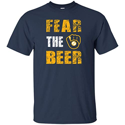 Fear The Beer Brewers Shirt (T-Shirt; Navy; X-Large)