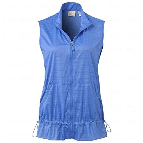 Ladies Wind Vest (Ep Pro Ladies Micro Plaid Zip Front Vest Purple L)