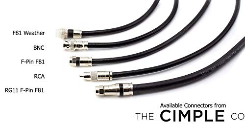 THE CIMPLE CO - BNC Compression Connector for RG59 Coaxial Cable | Solid Construction with High Grade Metals | Male BNC Connectors for CCTV, SDI, HD-SDI, Siamese, Security Camera | Pack of 100 by THE CIMPLE CO (Image #7)