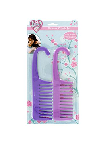 shower comb w/hook assorted colors, Case of 144 by bulk buys