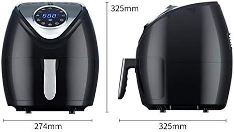 LUONE Friteuse à air, 5.5L Smart Touch Screen Frites Appareil Multifonctions Friteuse électrique Faible teneur en Gras air sans Huile Fryer